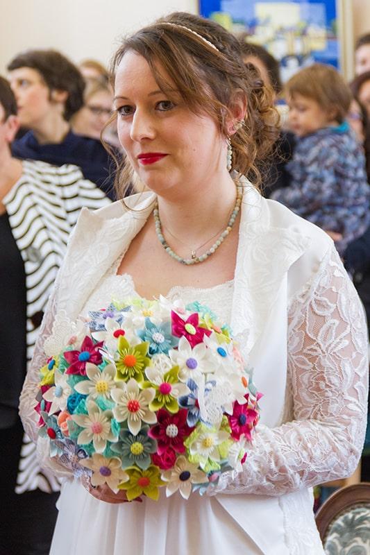 le portrait d'une mariée à la mairie